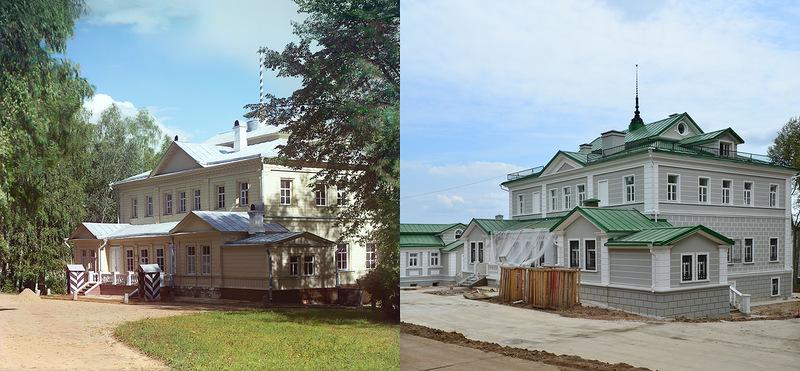 Бородинские места на снимках Прокудина-Горского и в августе 2012 г.,100 лет спустя.