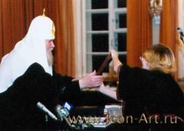 В иконописной мастерской Екатерины Ильинской создан образ св.преподобномученицы Веры (Морозовой), послушницы Страстного монастыря