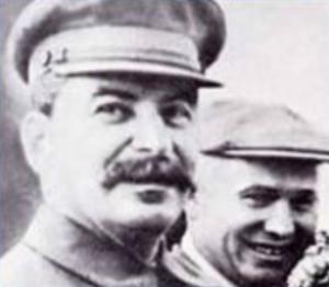 И.В. Сталин и Н.С. Хрущёв