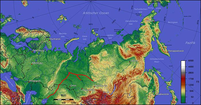 История поворота сибирских рек (см. видео справа)